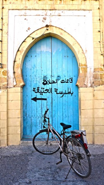 Roz Collins | Door and Bicycle, Morocco