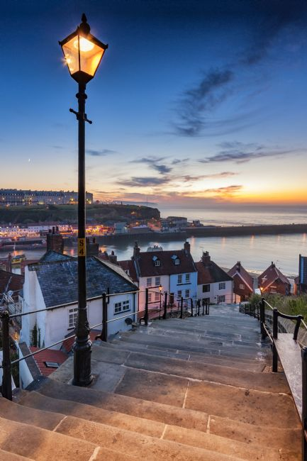 Richard Burdon | A Mid Summer Sunset Over Whitby Steps