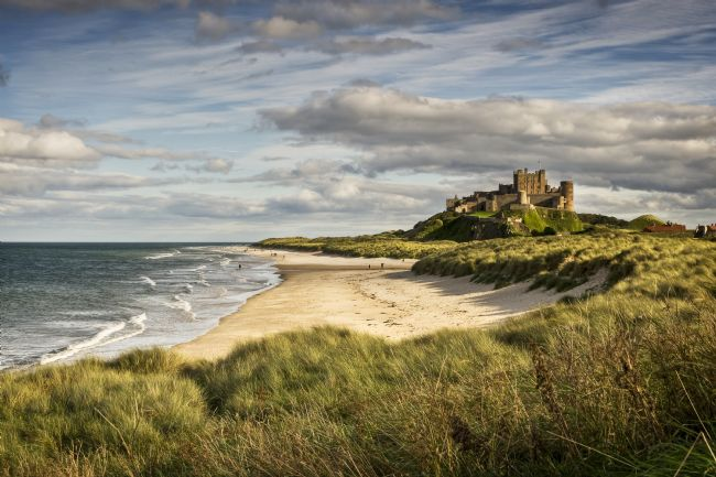 Richard Burdon | Evening at Bamburgh Castle