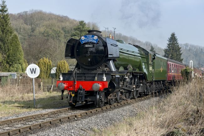 Richard Burdon | The Flying Scotsman at New Bridge, Pickering