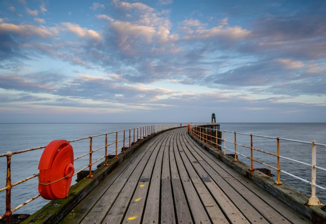 Richard Burdon | Sunrise Over Whitby Pier