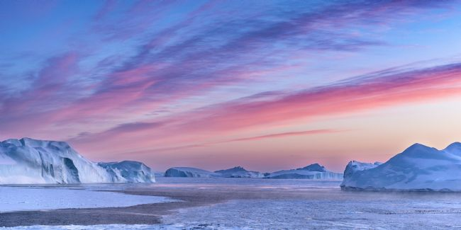 Richard Burdon | Sunset Over The Kangia Icefjord In Greenland