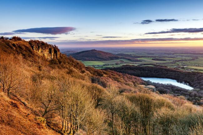 Richard Burdon | Winter Sunset Over Sutton Bank