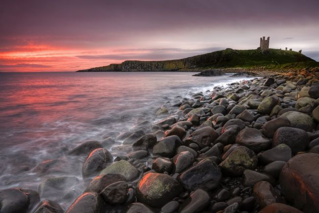 Richard Burdon | Greymare Dawn, Dunstanburgh
