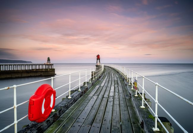 Richard Burdon | Sunrise Over Whitby's East Pier