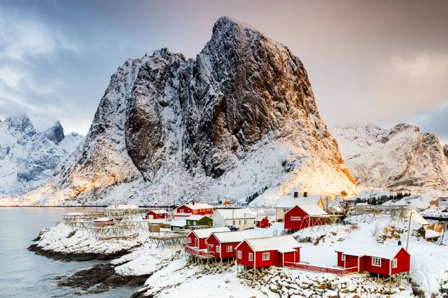 Richard Burdon | Morning Light On Hamnoy Village, Lofoten Islands