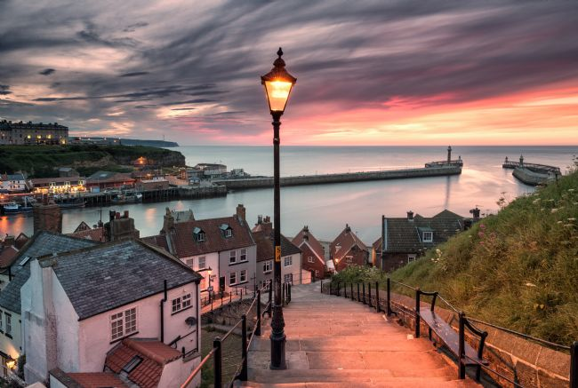 Richard Burdon | A summer sunset over Whitby pier