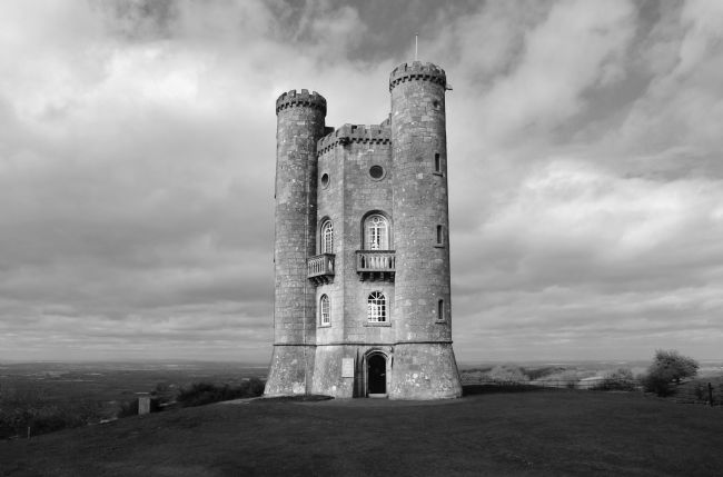 Susan Snow | Broadway Tower in Black and White
