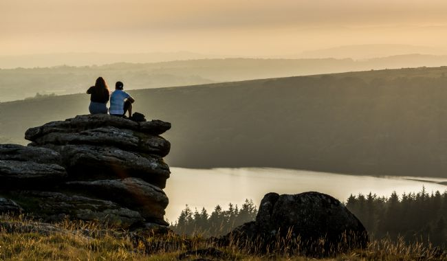 Jean Fry | Looking out over Burrator Reservoir from Sheeps Tor