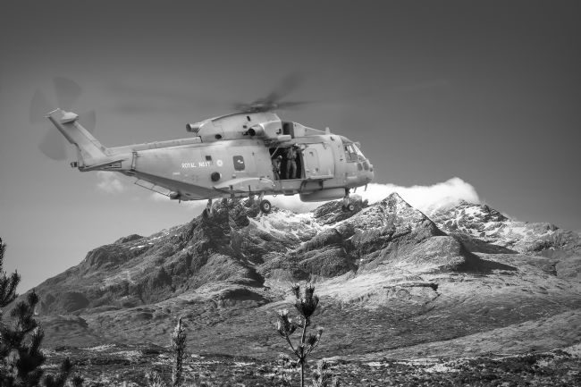 Robert Lester | Agusta Westland AW101 Merlin In the Cuillins,Scotland