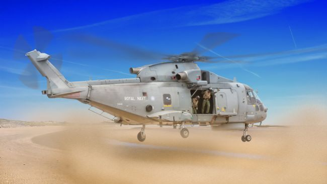 Rob Lester | Agusta Merlin AW 101, Dusty Touchdown