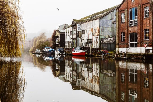 Paul Macro | Norwich Waterfront Misty Reflections