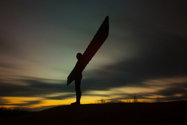 A Blakey | Twilight Angel of the North