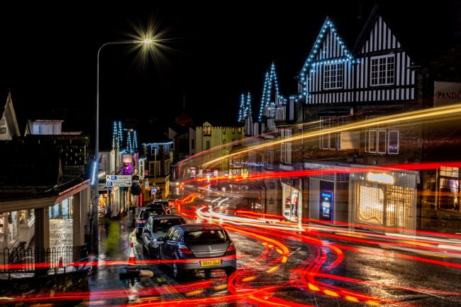 Mark Ingleby | Light trails through Bowness-on-Windermere
