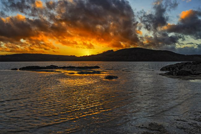 Reg Atkinson | Fire in The Sky - Rockcliffe Bay