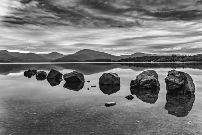 Reg Atkinson | Rocks at Loch Lomond