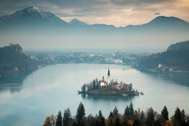 Ian Middleton | View of Lake Bled from Ojstrica