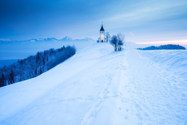 Ian Middleton | Winter morning at Jamnik church of Saints Primus and Felician