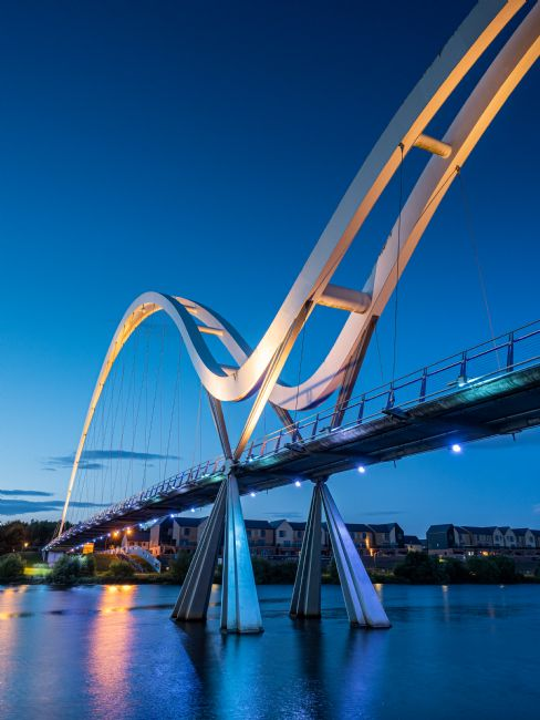 George Robertson | Sunset at Infinity Bridge on the River Tees. Stockton-on-Tees