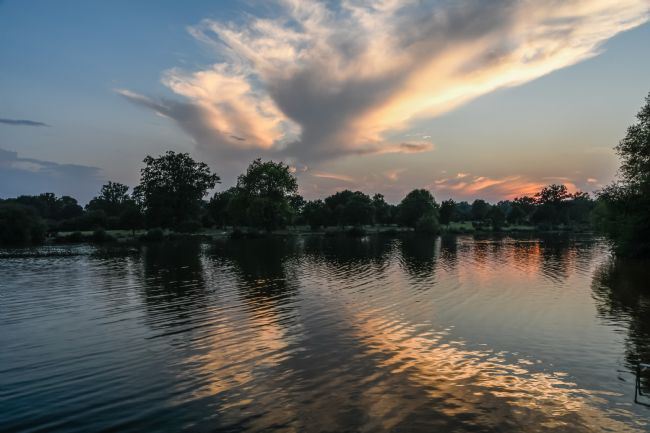 Mike Carroll | Lake at Sunset