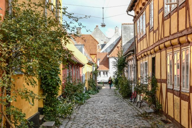 Mike Carroll | Cobbled alley in Helsingor, Denmark