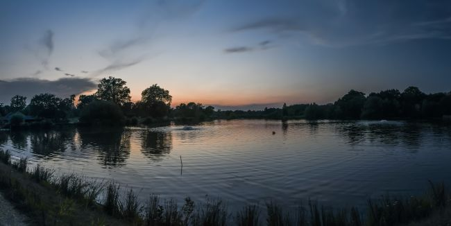 Mike Carroll | Lake at Sunset Panorama