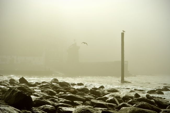 Graham Carnduff-Youngg | Lynmouth Harbour in a Sea Mist