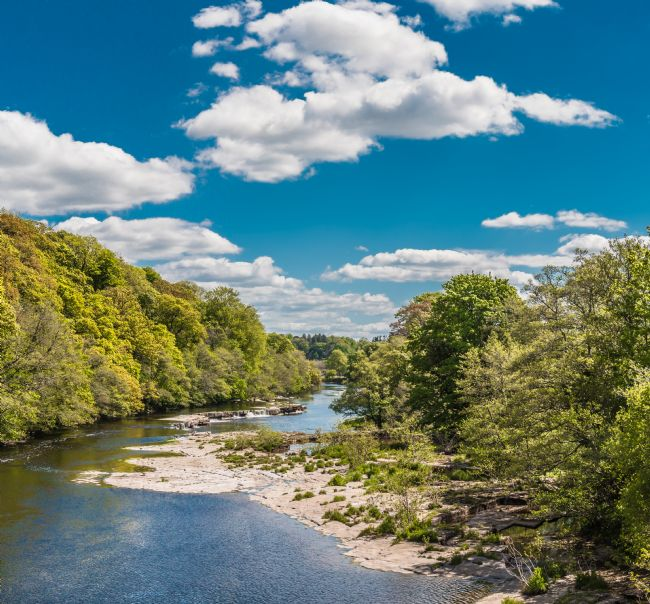 Richard Laidler | Big Sky Downstream on the River Tees at at Whorlton, Teesdale
