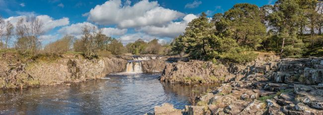Richard Laidler | Spring at Low Force Waterfall, Teesdale Panorama