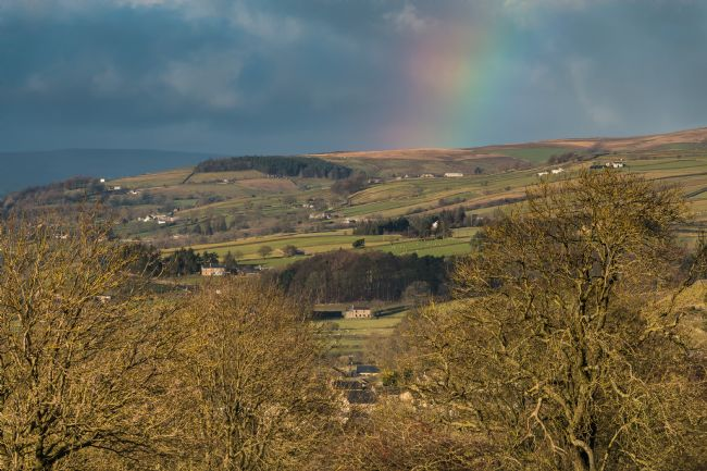 Richard Laidler | Dramatic light and rainbow over Eggleston, Teesdale