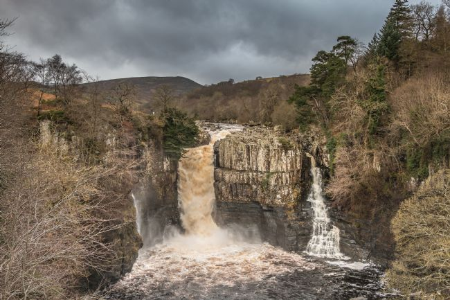 Richard Laidler | High Force Waterfall, Teesdale,  in spate after Storm Brendan, January 2020
