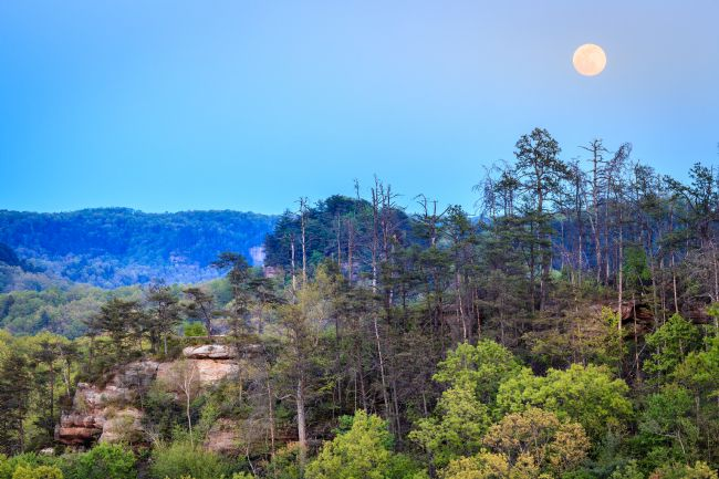 Alexey Stiop | Moonrise over Red River Gorge