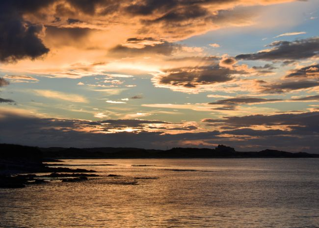 Andrew Heaps | Sunset in Northumberland coastline