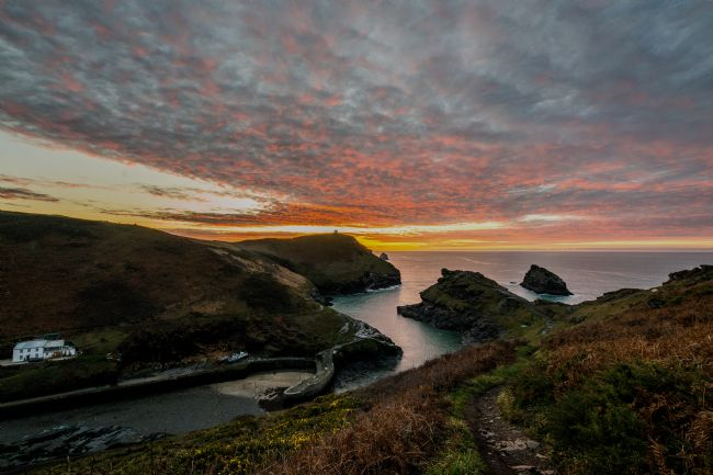 David Wilkins | Boscastle Harbour Sunset