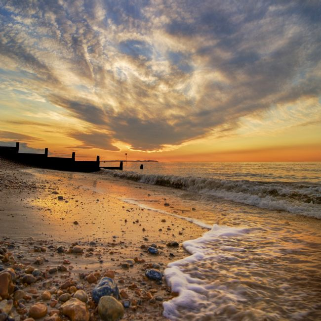 Adrian Campfield | Evening Tide on Whitstable Beach