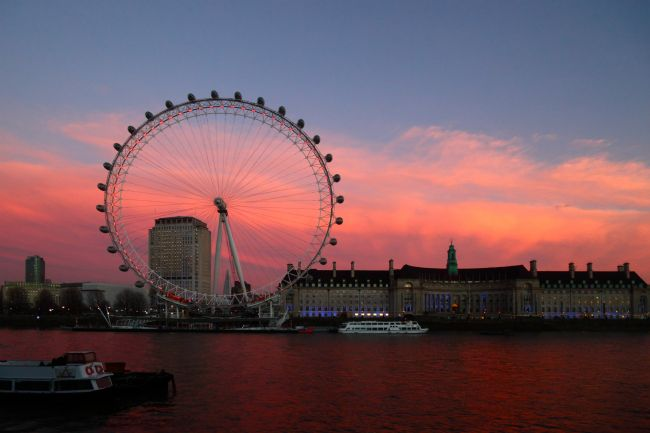 James Brunker | London Eye and County Hall at Sunset