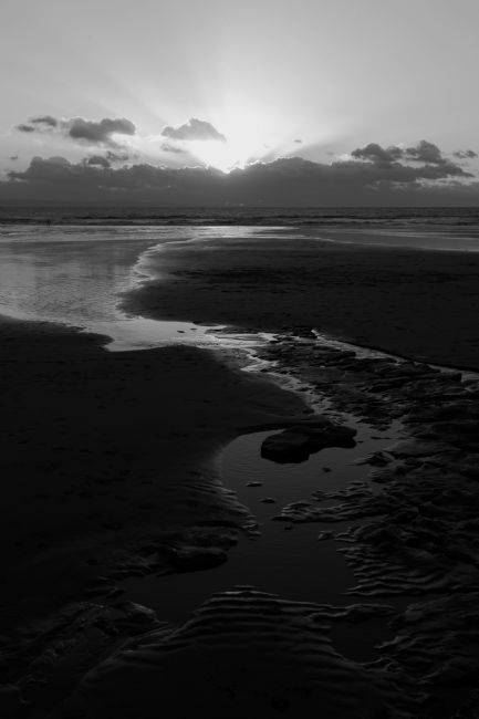 James Brunker | Southerndown Bay in Black and White South Wales