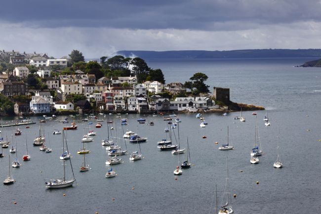 James Brunker | View of Polruan Village and Fowey Estuary Cornwall