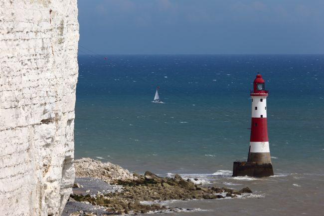 James Brunker | Sailing Past Beachy Head Lighthouse East Sussex