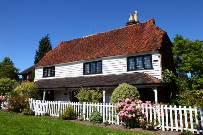 James Brunker | Typical White Weatherboarded Cottage Kent