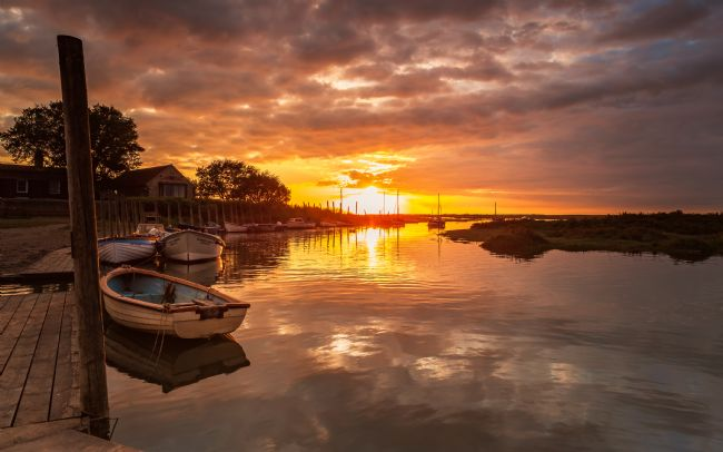 David powley | Blakeney Harbour Sunset