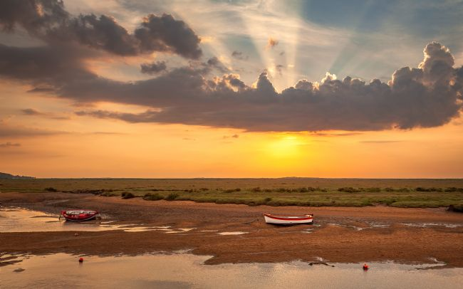 David Powley | Evening glow at Burnham Overy