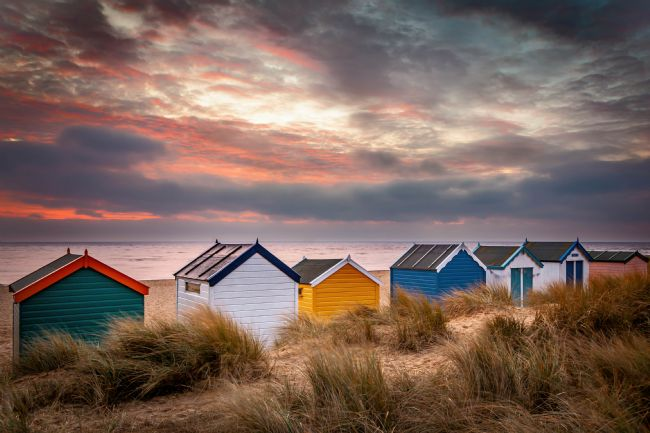 David Powley | Southwold beach huts at sunrise