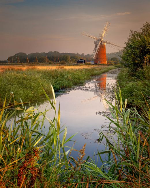 David powley | Dawn reflections of Horsey Mill