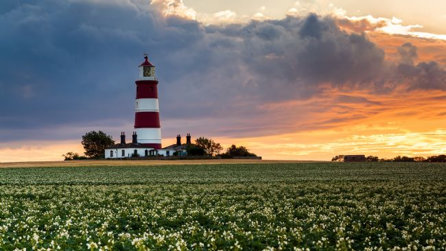 David Powley | Summer sunset at Happisburgh Lighthouse