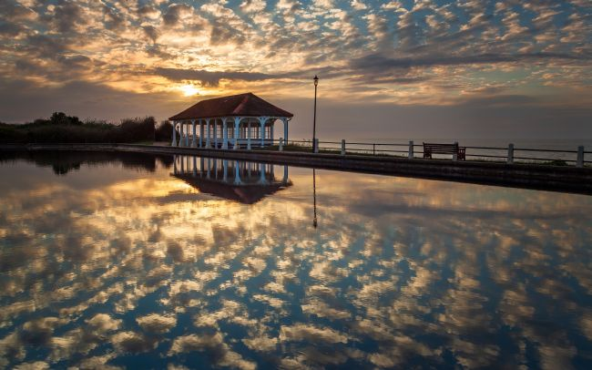 David Powley | Sheringham boating lake at sunset