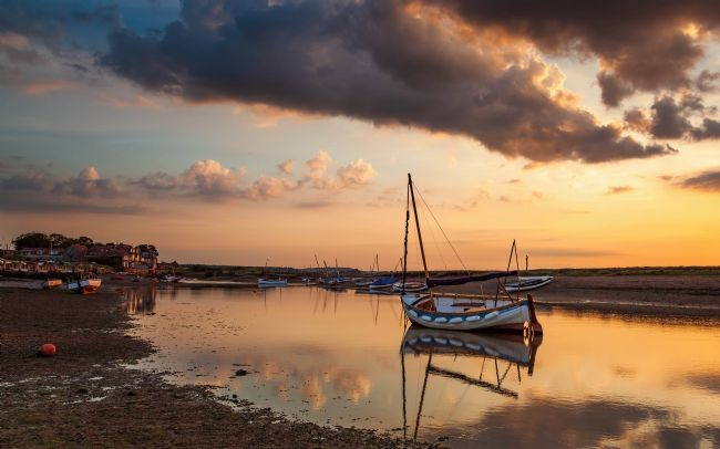 David Powley | Evening glow at Burnham Overy Staithe