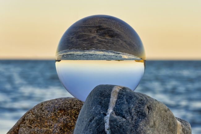 Steve Stamford | Lens ball sunset 1