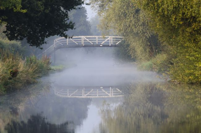 Steve Stamford | Canal bridge in the mist