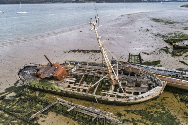 Steve Stamford | Pin Mill wrecks aerial 4